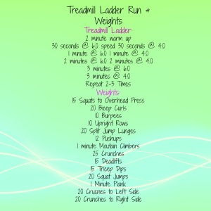 Treadmill Ladder Workout & Weights